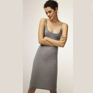Aritzia Wilfred Free Kovac Dress Color Gray, XS